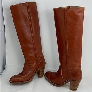 Vintage 1970's Frye Sz 5.5B Tall Pull On Boots
